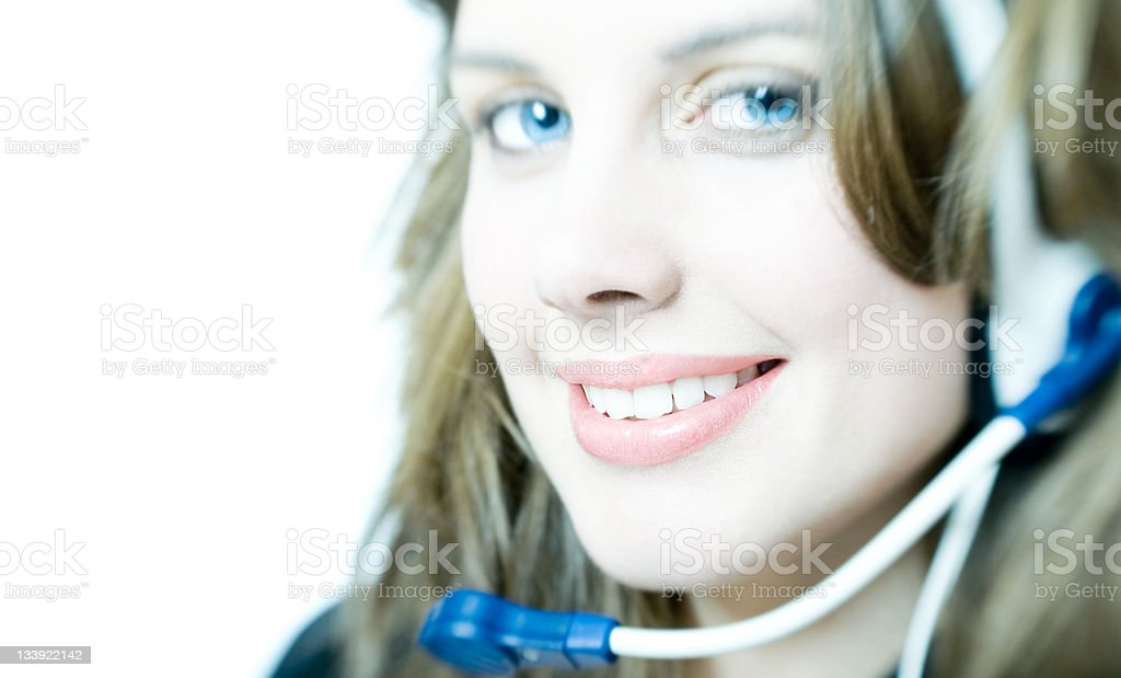 Friendly Helpdesk royalty-free stock photo