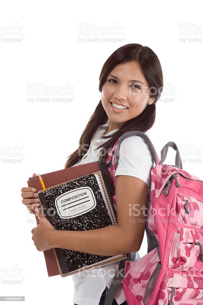 Friendly Hispanic College student royalty-free stock photo