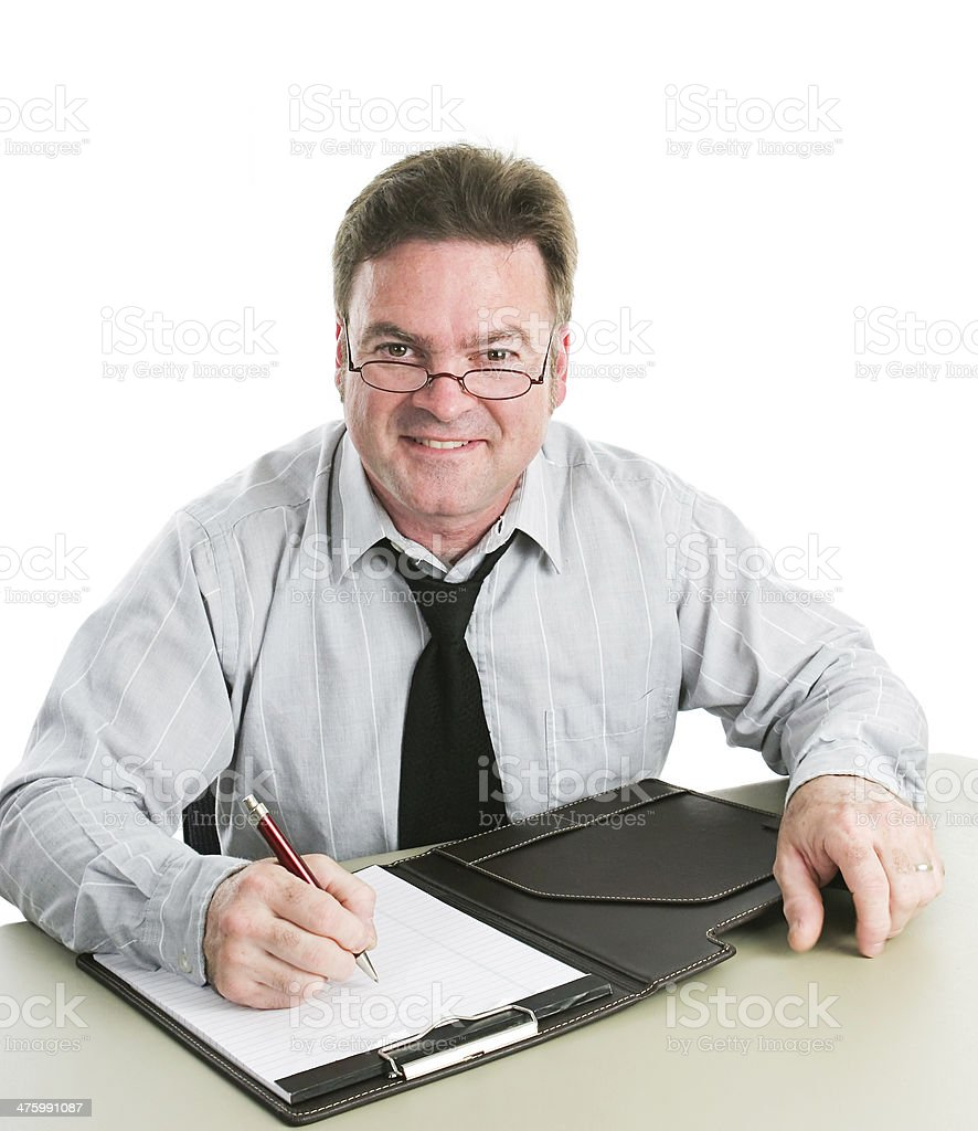 Friendly Job Interviewer royalty-free stock photo