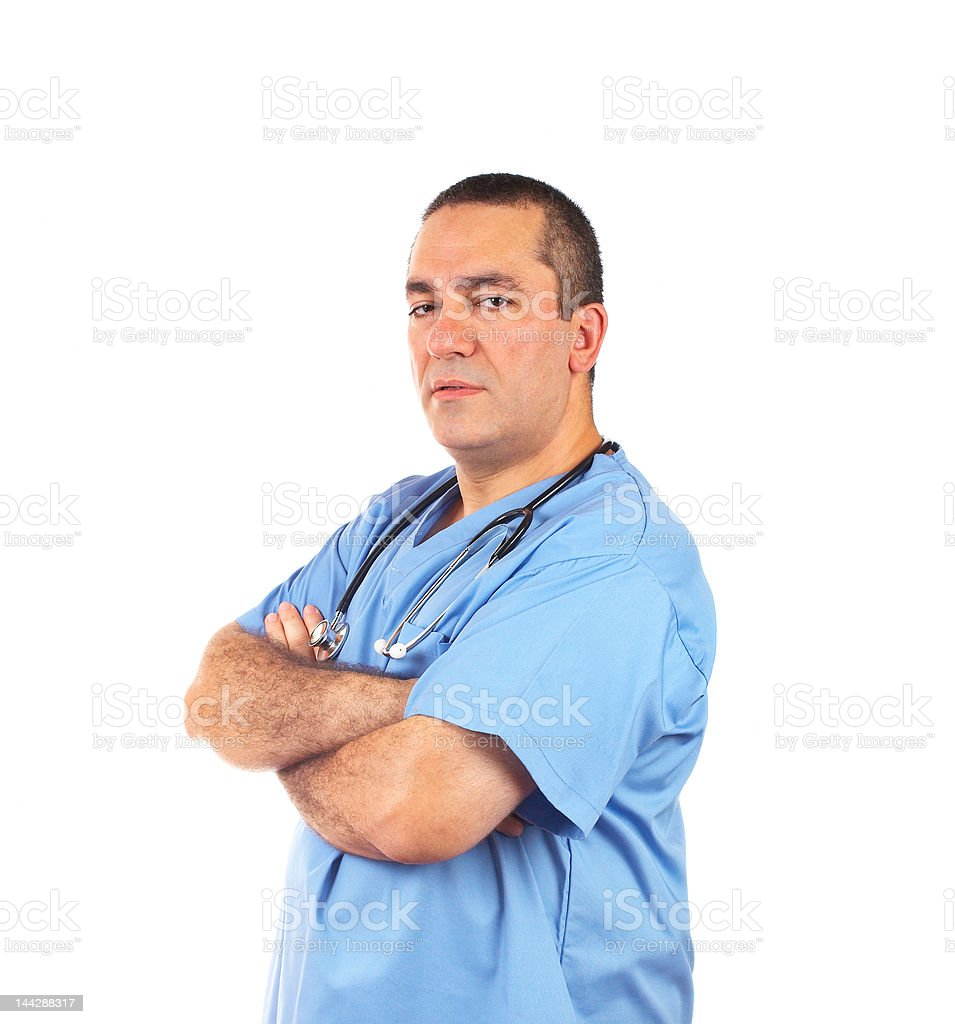 Friendly male doctor royalty-free stock photo