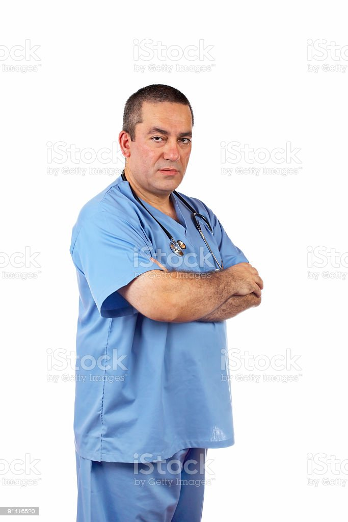 Friendly male doctor stock photo