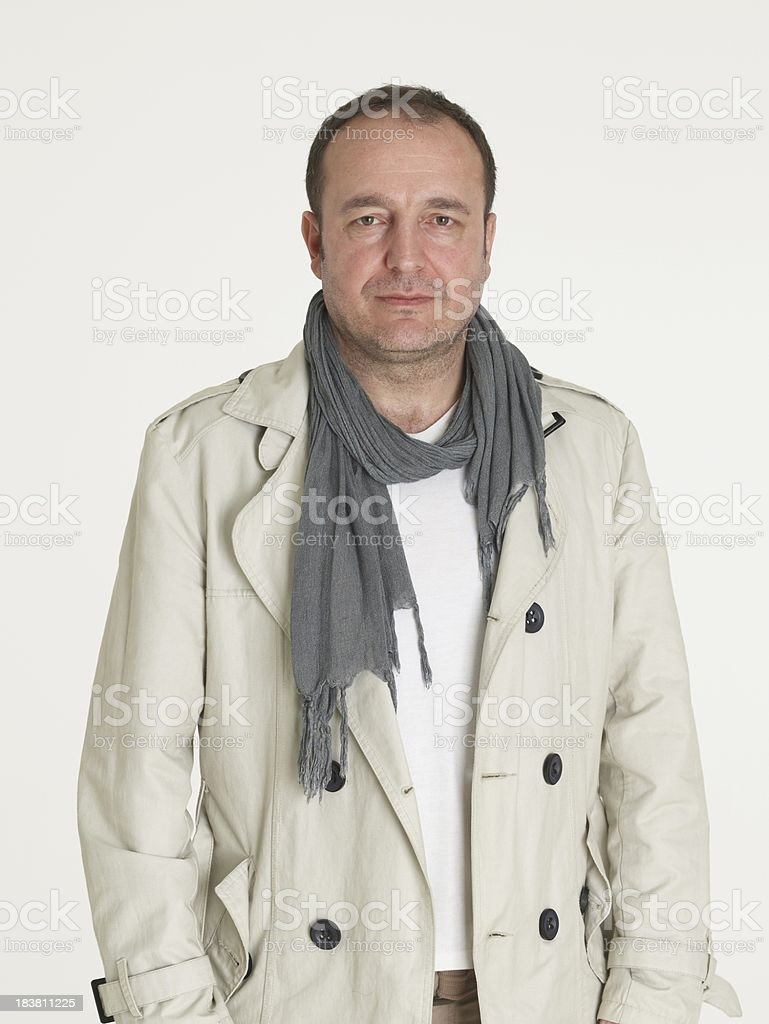 Friendly man look at the camera royalty-free stock photo
