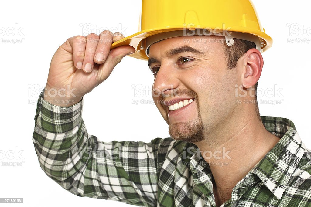 friendly manual worker royalty-free stock photo