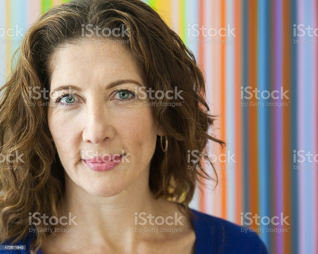 Friendly Middle Aged Woman stock photo