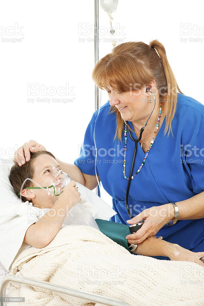 Friendly Nurse and Child royalty-free stock photo