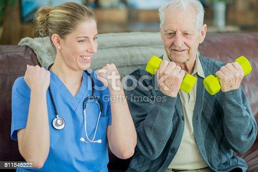 istock Friendly Nurse 811545222