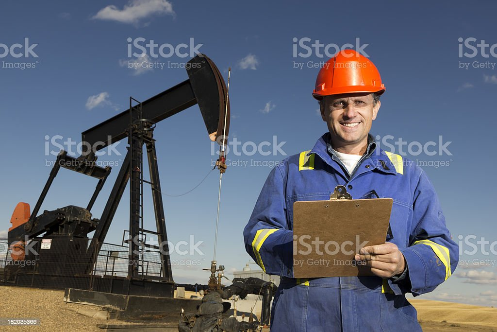 Friendly Oil Worker royalty-free stock photo