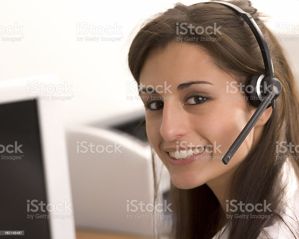 Friendly Operator royalty-free stock photo