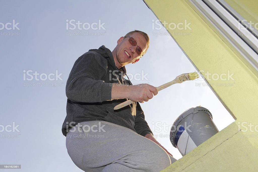 friendly painter stock photo