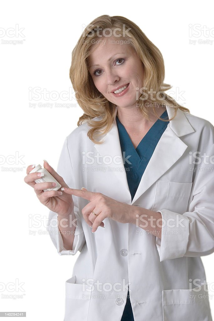 Friendly pharmacist stock photo