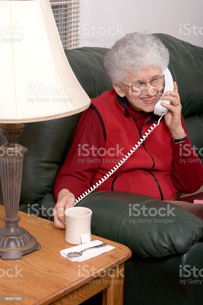 Friendly Phone Call royalty-free stock photo