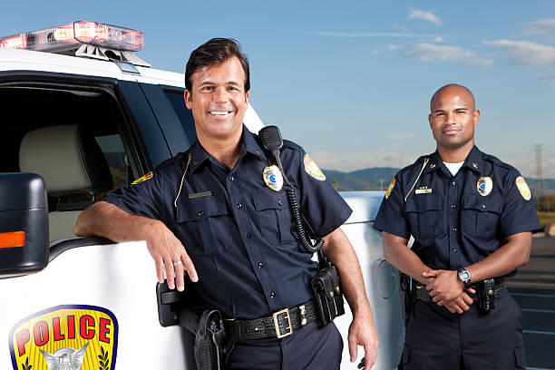 Friendly Police Officers stock photo