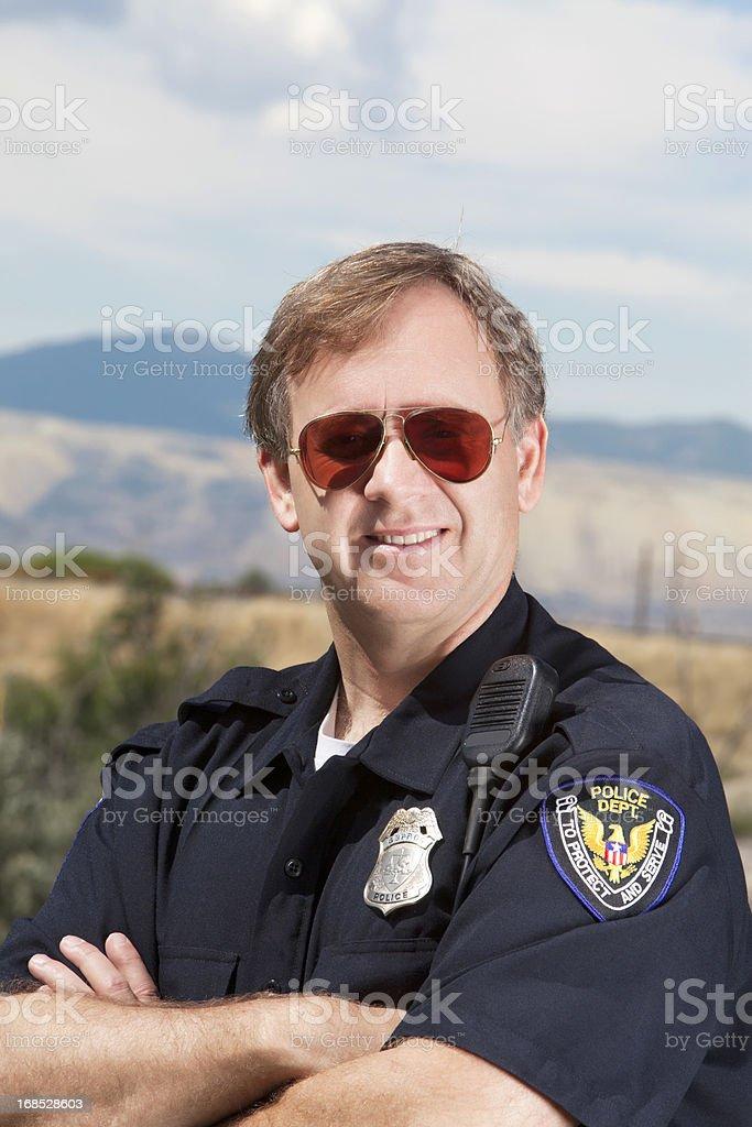 Friendly policeman royalty-free stock photo