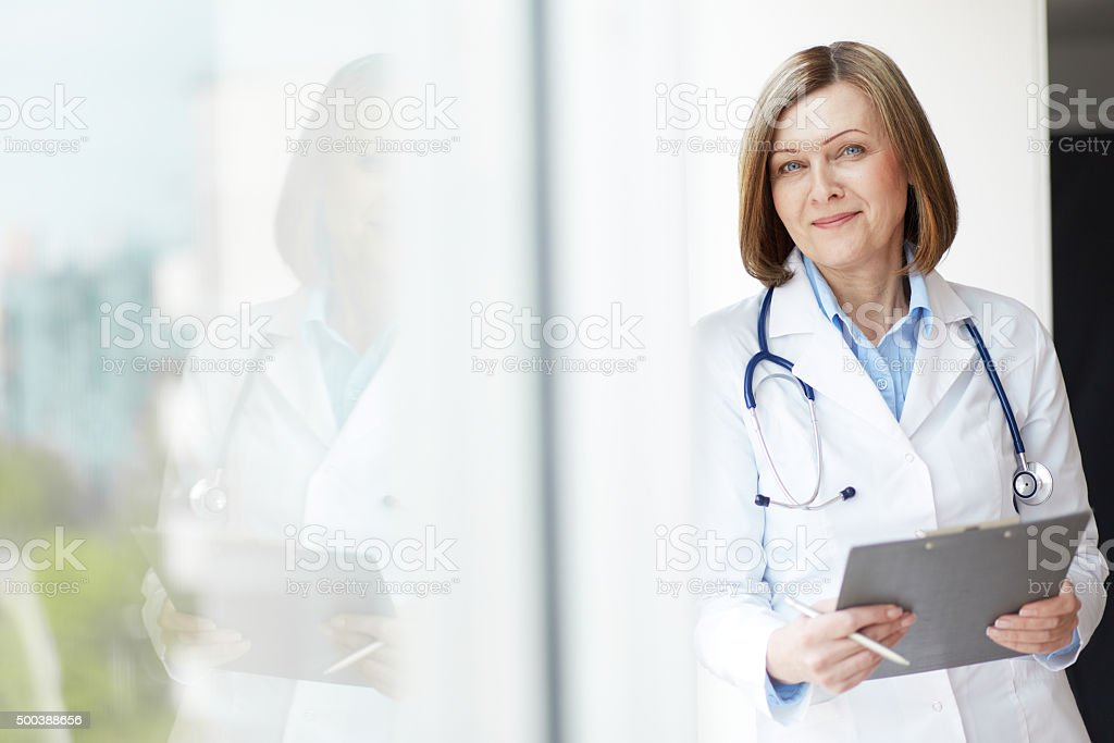 Friendly practitioner stock photo
