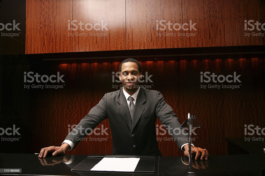 Friendly Receptionist royalty-free stock photo