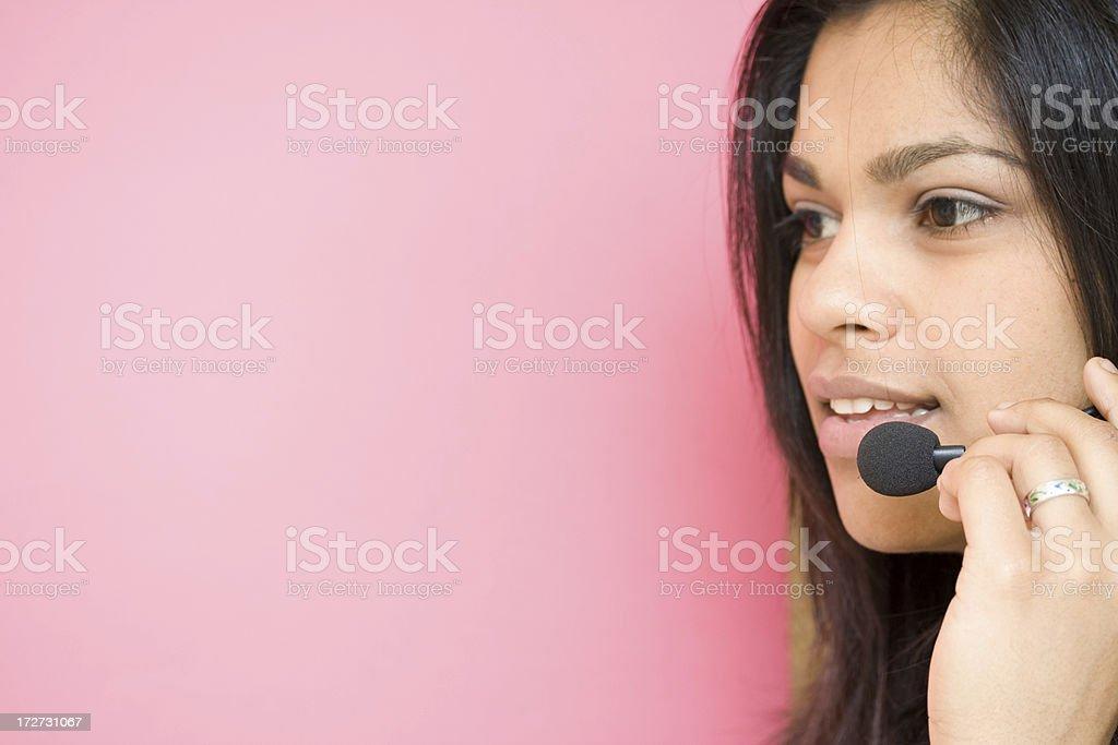 friendly receptionist royalty-free stock photo