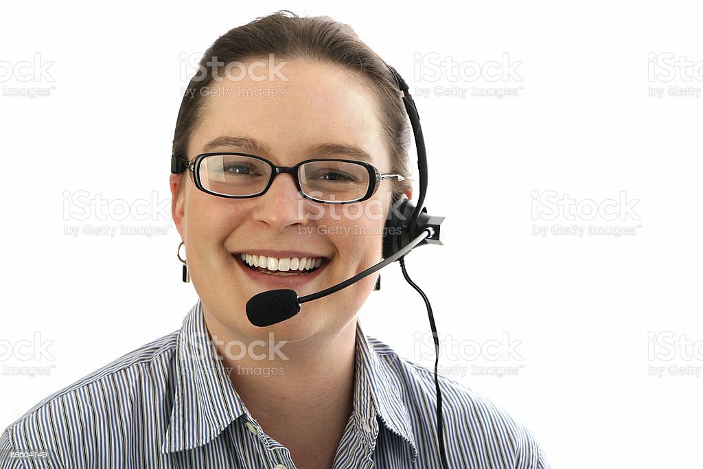 Friendly receptionist. royalty-free stock photo