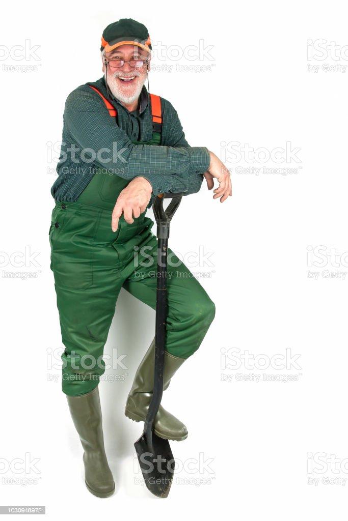 Friendly senior gardener - Royalty-free Adult Stock Photo