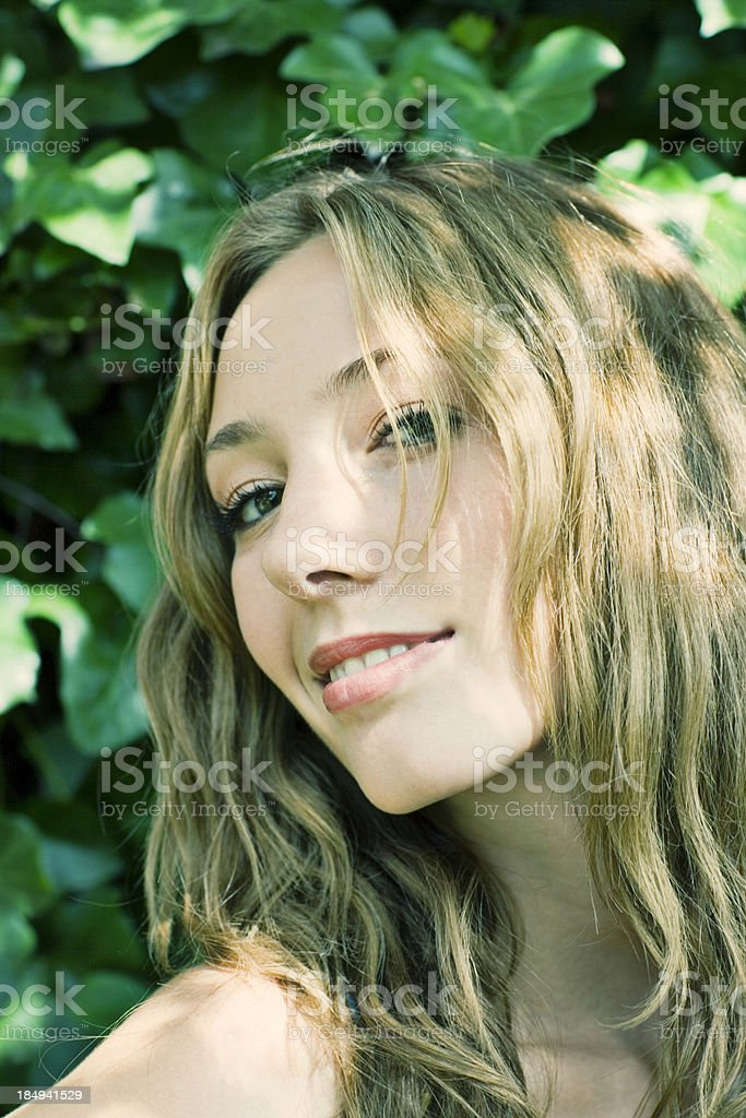 friendly smile stock photo