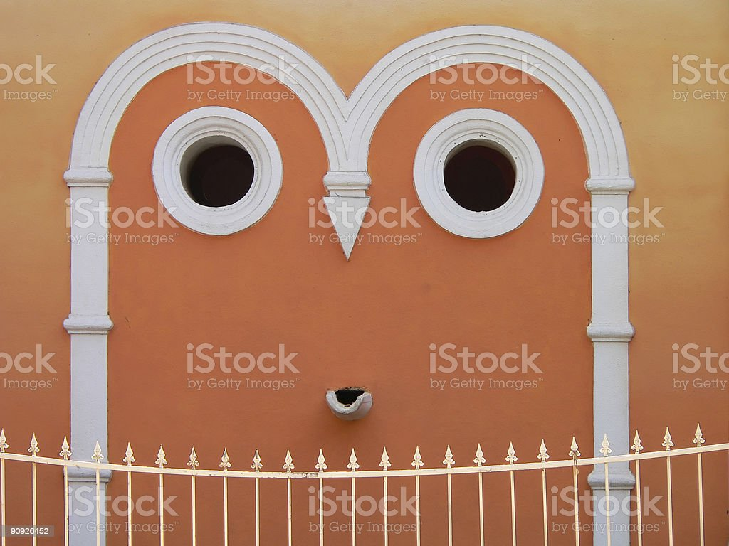 friendly smiling temple stock photo