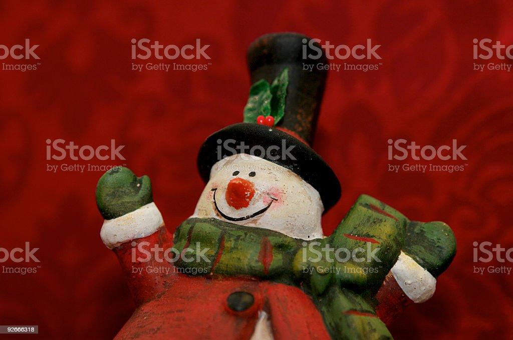 Friendly snowman stock photo