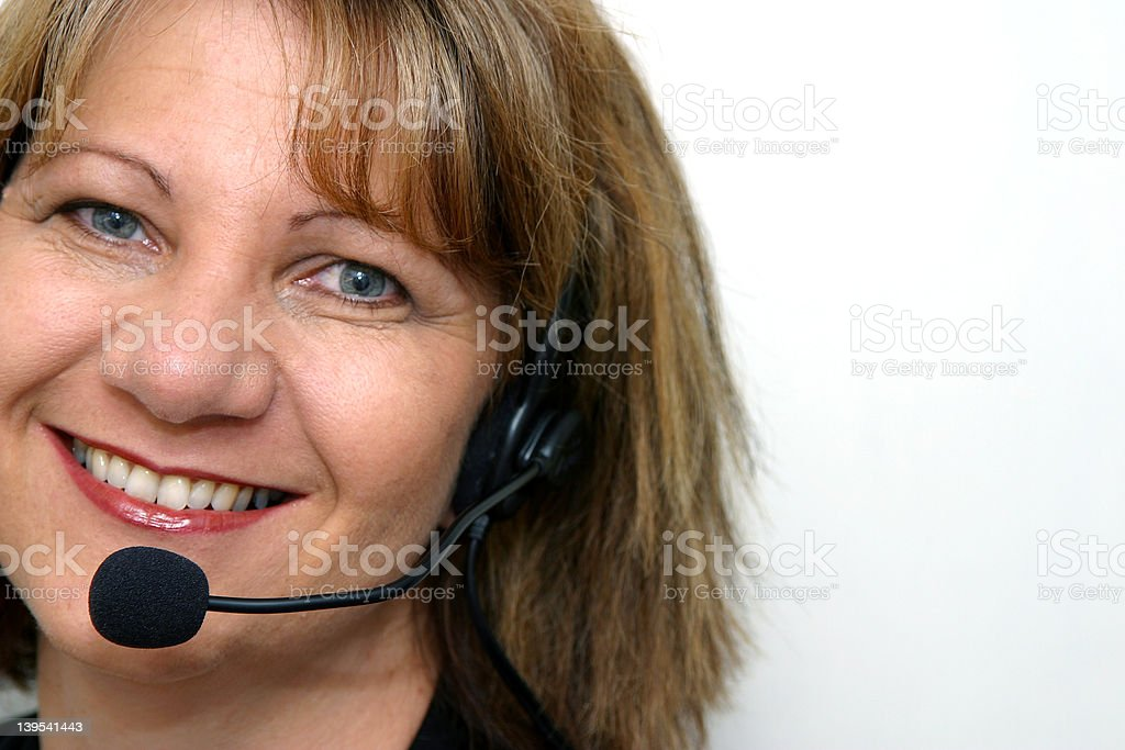 Friendly Staff Smile royalty-free stock photo