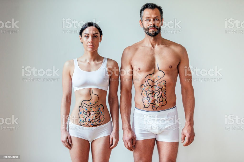 Friendly Stomach Bacteria Concept stock photo