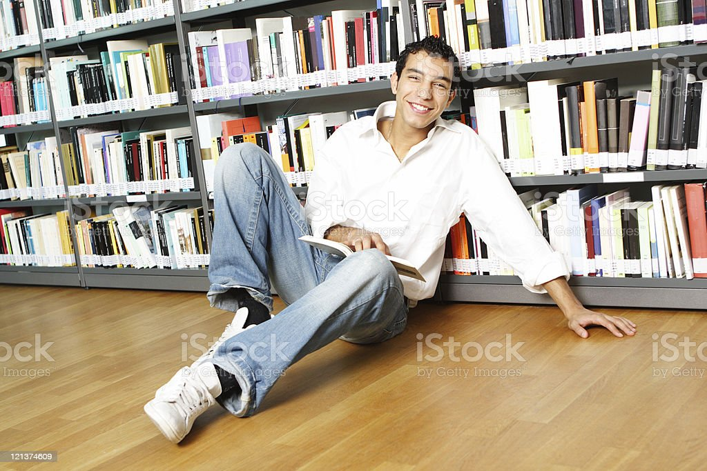 Friendly Student at the library royalty-free stock photo