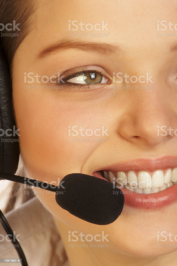 Friendly support service. royalty-free stock photo