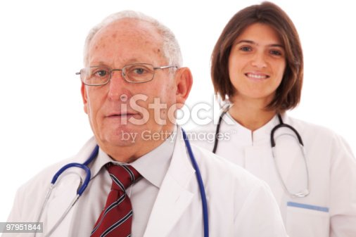 Friendly Team Doctors Stock Photo & More Pictures of 60-69 Years
