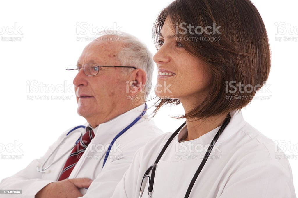 Friendly team doctors royalty-free stock photo