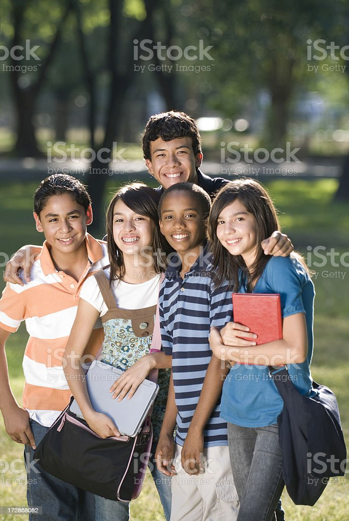 Friendly teens royalty-free stock photo