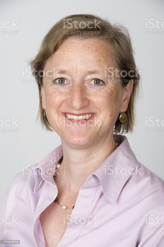 friendly woman stock photo