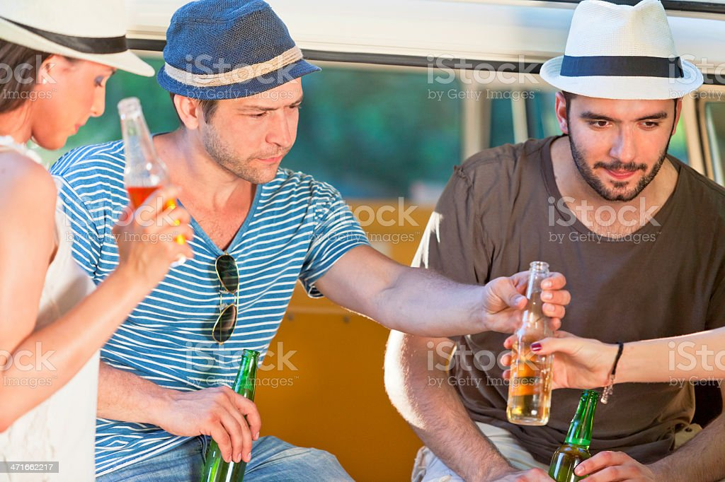 Friends and beer royalty-free stock photo
