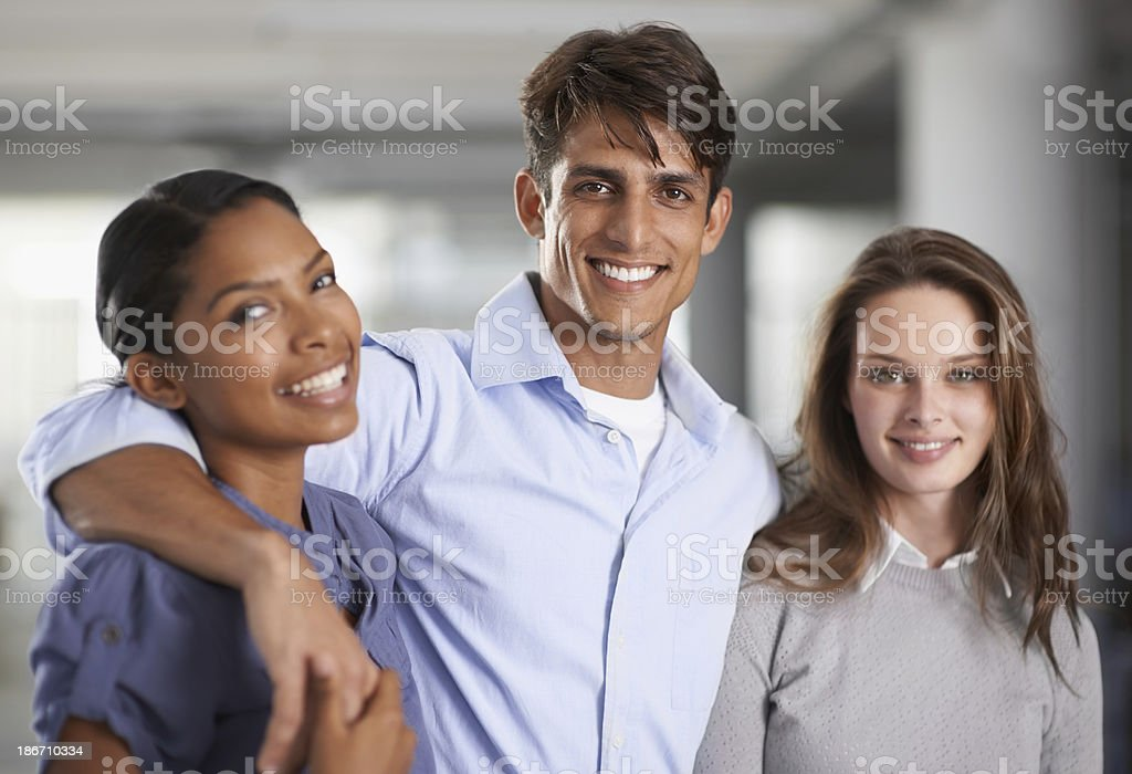 Friends and co-workers royalty-free stock photo