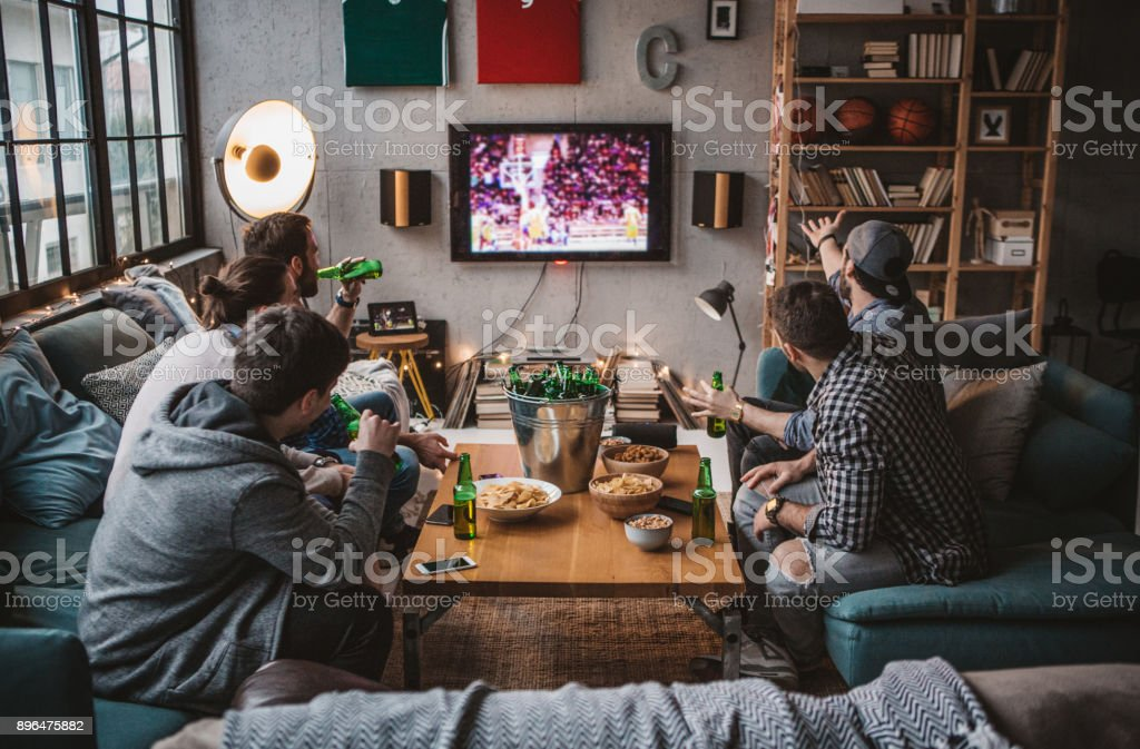 Friends are having great weekend stock photo
