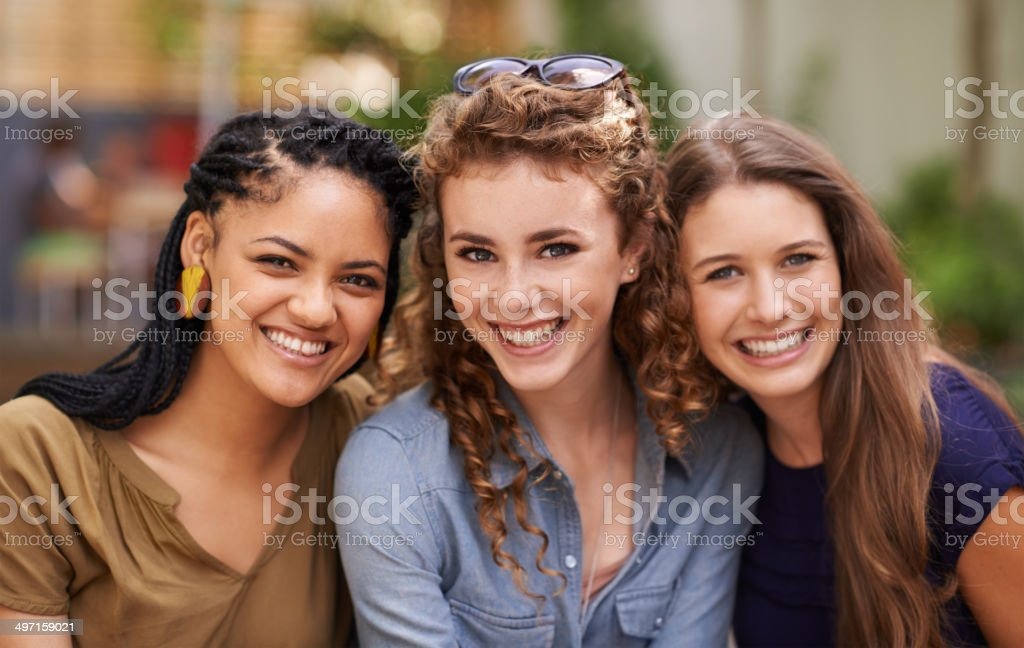 Friends are the family we choose for ourselves stock photo