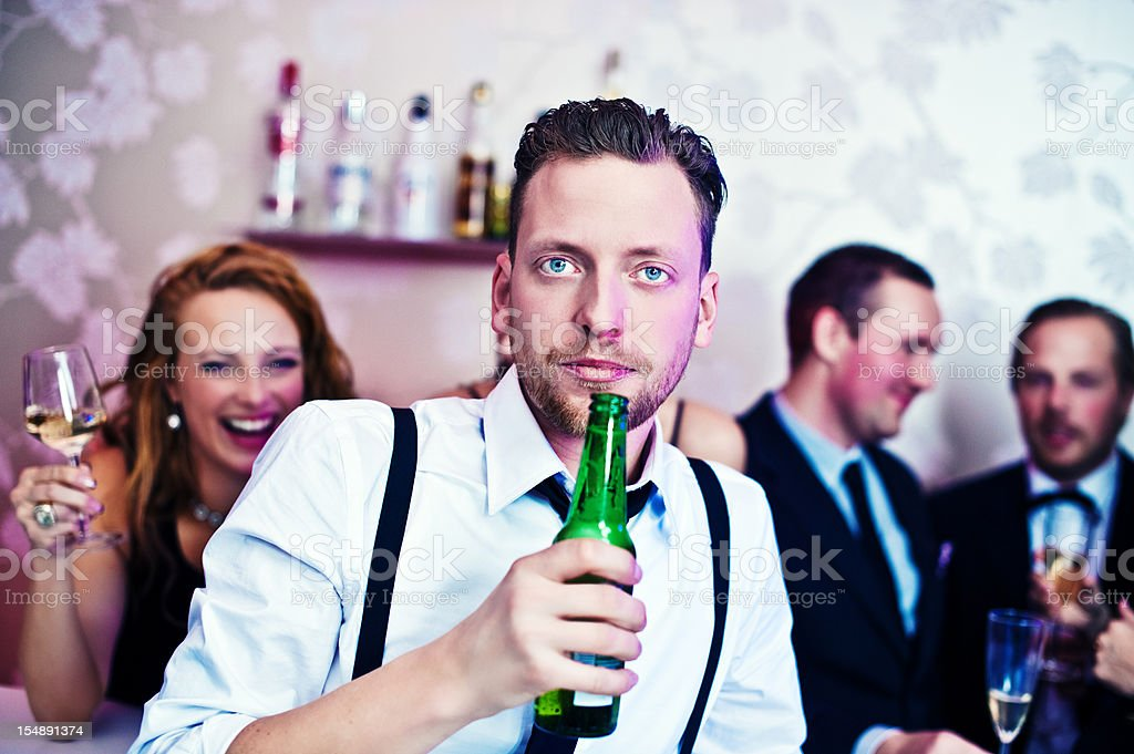 Friends at a party royalty-free stock photo