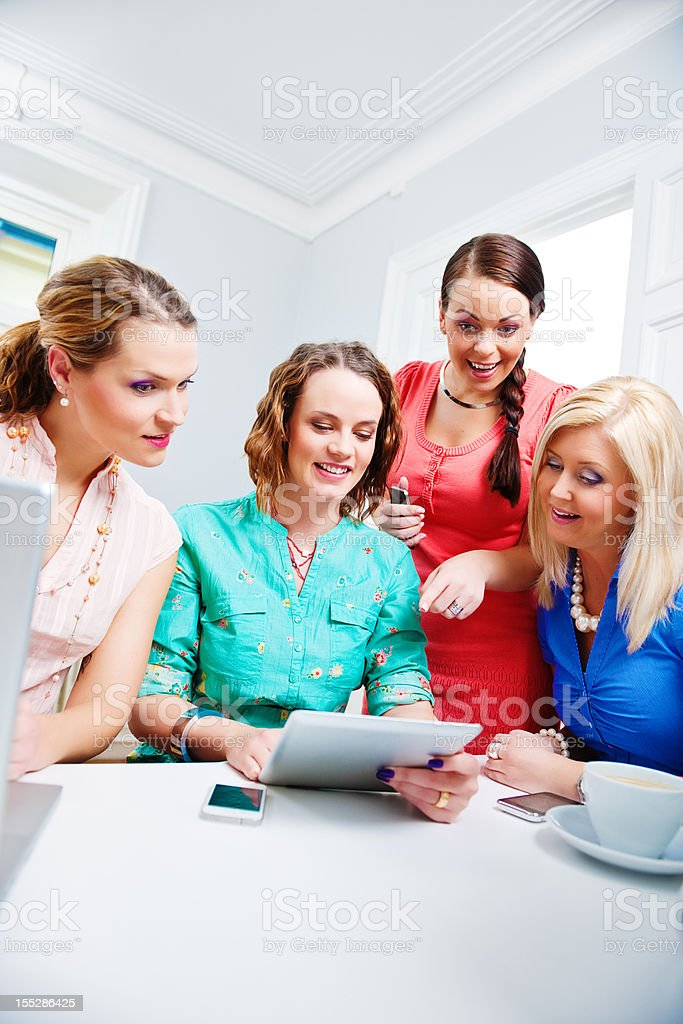 Friends at office royalty-free stock photo