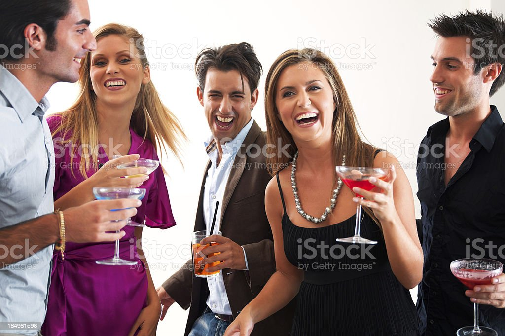 Friends At Party royalty-free stock photo