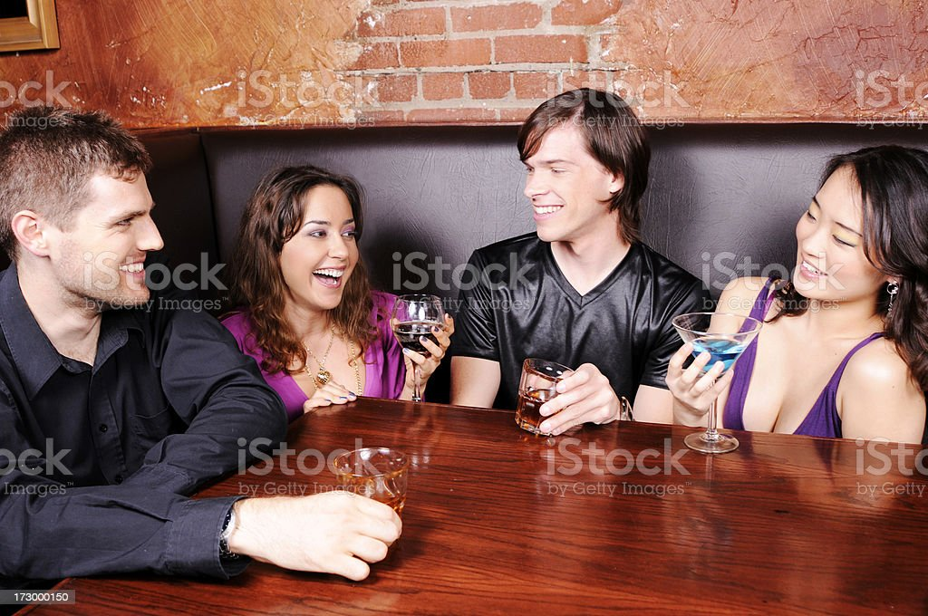 Friends at the Bar royalty-free stock photo