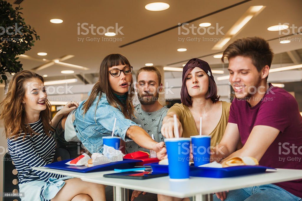 Friends At The Mall stock photo