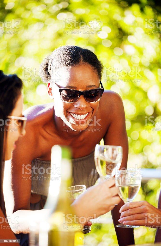 Friends celebrating royalty-free stock photo