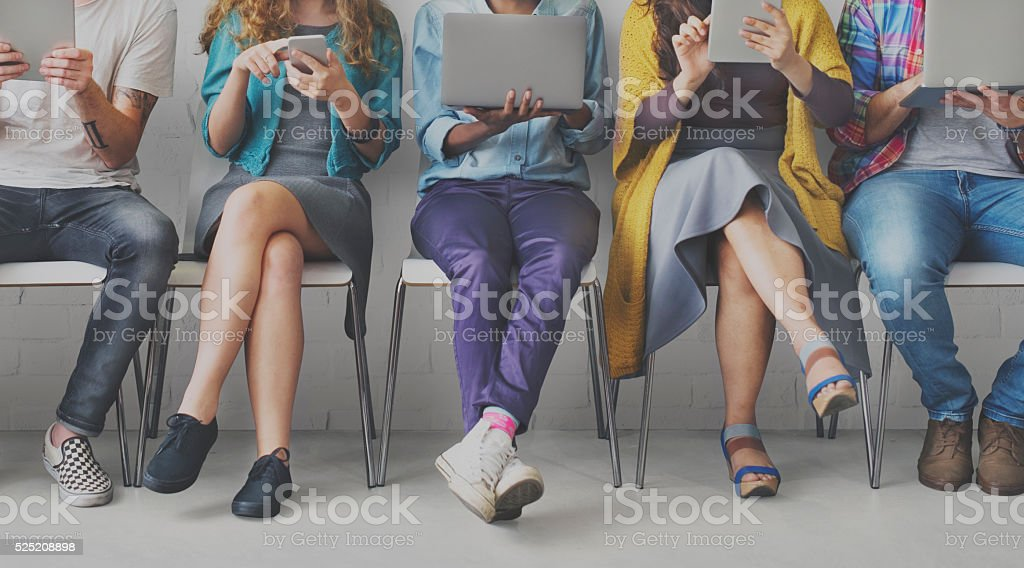 Friends Connection Digital Devices Technology Network Concept Friends Connection Digital Devices Technology Network Concept African Ethnicity Stock Photo
