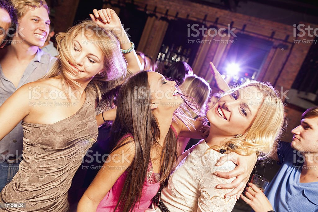 Friends Dancing At A Party royalty-free stock photo
