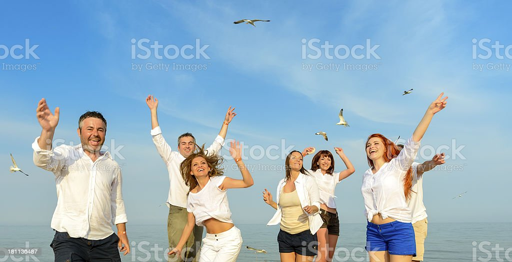 friends dancing royalty-free stock photo