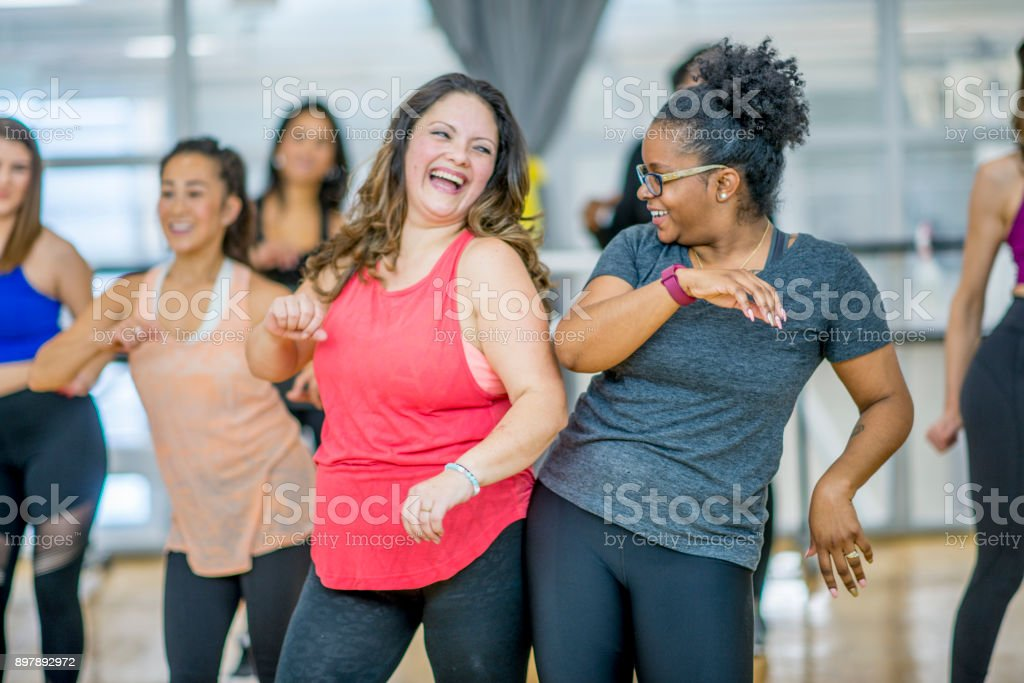 Friends Dancing Together stock photo