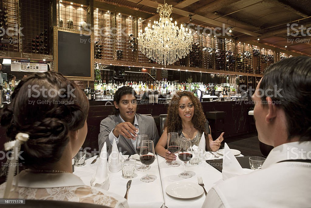 Friends DIning Out royalty-free stock photo