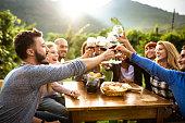 istock friends doing a wine tasting 854198310