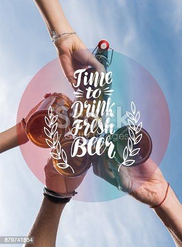 istock Friends drinking beer 879741854